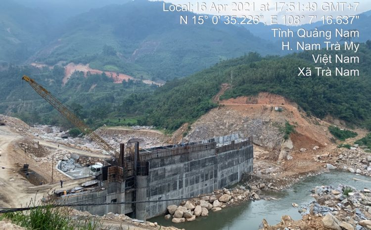 Nam Tiến đẩy nhanh tiến độ thi công tiến độ thi công dự án Thủy điện Đăk Di để đi vào hoạt động kịp mùa mưa năm 2021